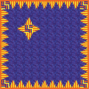Phoenix is an example how the Modern Burst Block can be incorporated in a quilt in a dramatic way
