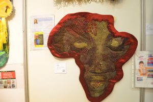 Mama Africa as shown the the South African National Quilt Festival in Bloemfontein August 2013