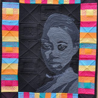 how to use layered net as a method of embellishment in art quilting