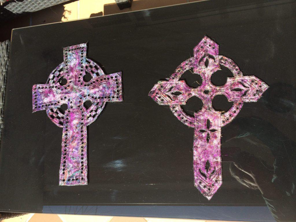 Layered textiles crosses