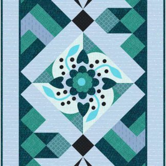 Blue Flower table Runner