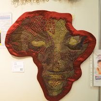 Mama Africa - Social commentary SAQG Quilt Festival Bloemfontein 2013